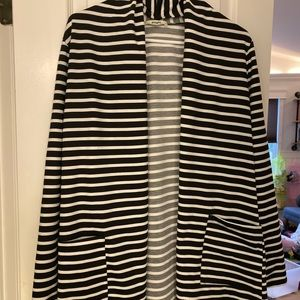 Striped cotton cardigan/blazer